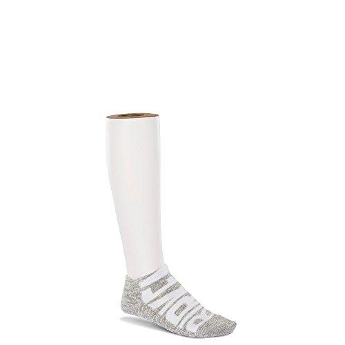 Birkenstock Women's Sneaker Logo Slub Socks, Gray, (Birkenstock Womens Sock)
