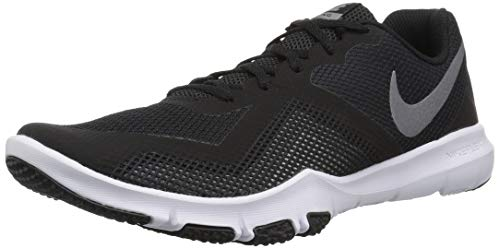 Nike Men's Flex Control II Cross Trainer, Black/Metallic Cool Grey-White, 10 4E US ()