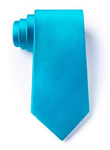 (Neon Blue Neon Blue Silk Extra Long Tie)