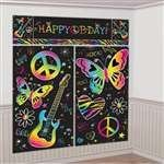 (Amscan Neon Birthday Party Scene Setter Wall Decorating Kit (5 Pack), 59
