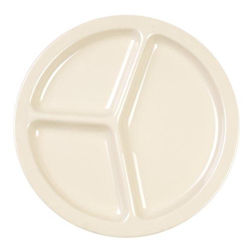 Excellante 12-Piece 3-Compartment Plate, 10-Inch, Saddleback Tan