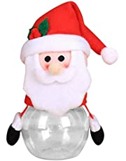 AVBXAWGU Christmas Candy Jar With Lids For Party Table Storage Bottle Santa Bag Cookie Jar Sweet Christmas Box Children Kids Gift