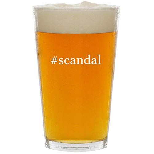 #scandal - Glass Hashtag 16oz Beer Pint