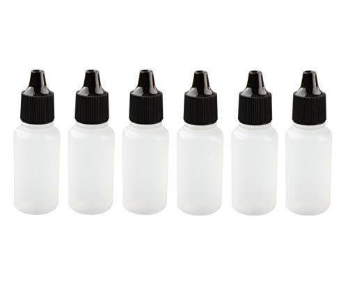d5298a1424de 25PCS 10ML 0.3OZ Empty Plastic Dropping Bottles with Black Screw Cap and  Removable Plug Eyedrop Storage Holder Portable Refillable Squeezable ...