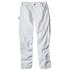 Dickies Industrial Wear 1953 38W by 34L Men's Relaxed Fit Cotton Utility Painters Pants, White