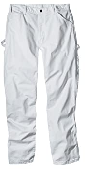 Dickies Men's Painter's Utility Pant Relaxed Fit, White, 36x30 0