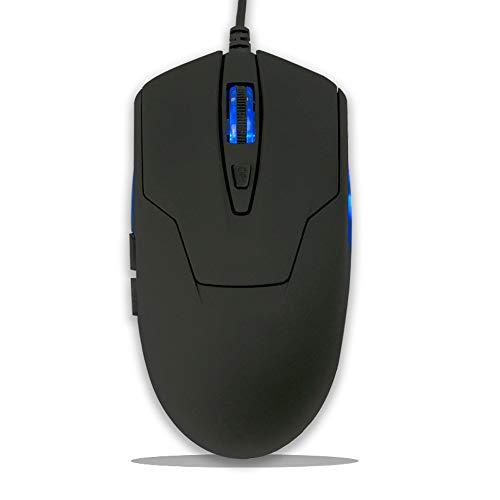 black office mouse wired usb computer mouse blue backlight mouse 4 adjustable high dpi gaming mouse