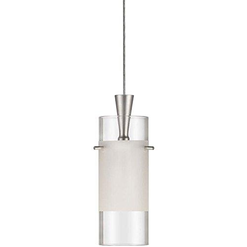 Dainolite Lighting DLSL221-CF-SC Single Pendant, Clear Frosted Glass, 12-volt, Satin Chrome Finish (Dainolite Satin Pendant)