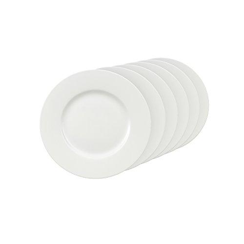 Villeroy & Boch Royal Breakfast Plate 22cm Premium Bone Porcelain-Suitable for 6People-6Plates-White 22cm 6Units