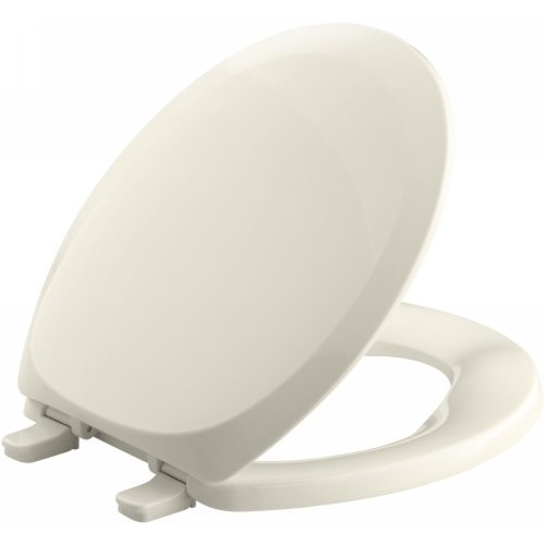 KOHLER K-4663-47 French Curve with Quick-Release Hinges Round-front Toilet Seat, Almond