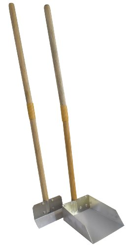 Flexrake 99W Small Scoop and Spade Set with 36-Inch Wood Handle ()
