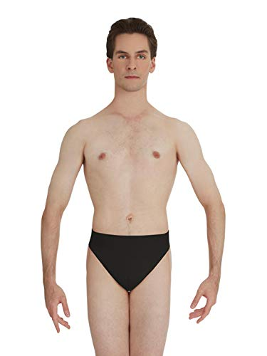 Capezio Men's Reinforced Front-Lined Thong Dance Belt, Black, ()
