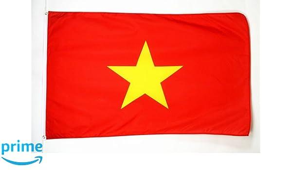 BANNER 5x8 ft High qu VIETNAMESE BIG FLAGS 150 x 250 cm VIETNAM FLAG 5/' x 8/'