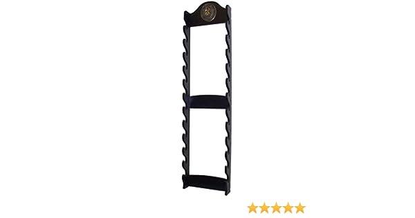 Swordmaster - Deluxe 12 Tier Wall Kanata Ninja Sword Display Stand & Samurai Warrior Medallion