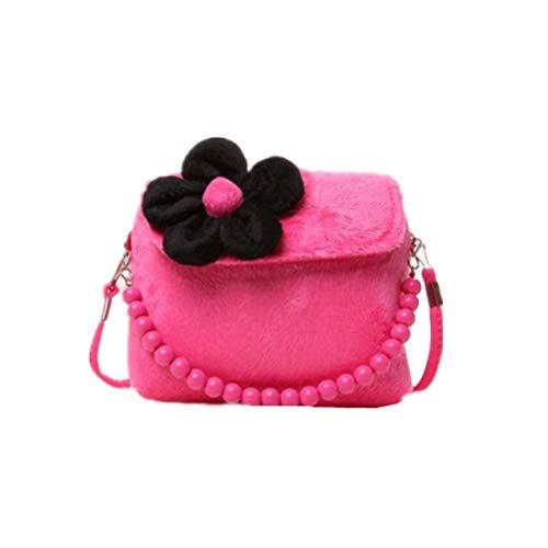 YeahiBaby Bolso Tridimensional pequeño para niños Bolso Infantil Messenger Bag Kids (Rosa Roja)