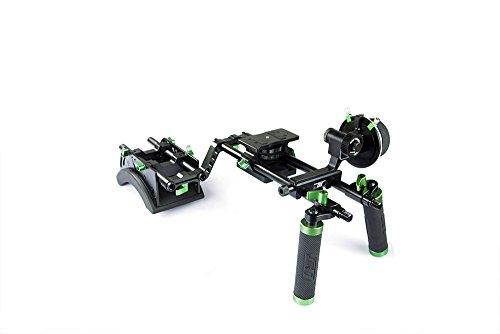 Lanparte DHR-01 Double Handle DSLR Camera Rig Kit (Black) by LanParte