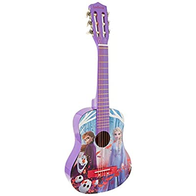 Disney Lexibook Frozen Elsa Acoustic Guitar, Mediator and Guitar Strap provided, 6 Nylon Cords, Learning Guide Included, Blue, K2000FZ: Toys & Games