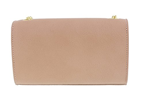 Bag for Pink Leather Shoulder Scheilan Mini Crossbody Studded Womens Powder 87q75Cw0