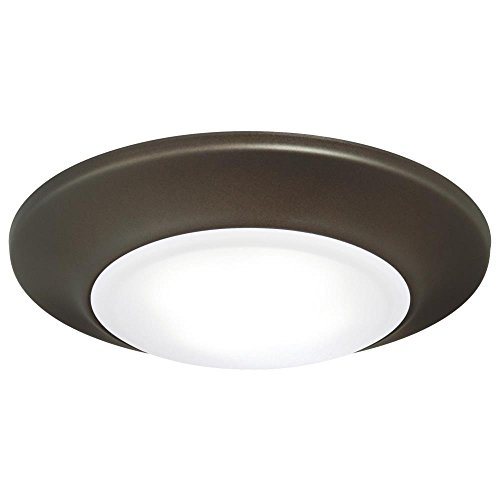 Westinghouse 6322400 Small LED Indoor/Outdoor Dimmable Surface Mount Wet Location, Oil Rubbed Bronze Finish with Frosted Lens