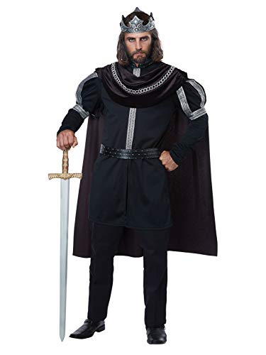 California Costumes Men's Dark Monarch - Adult Costume Adult Costume,  -black/Silver, X-Large
