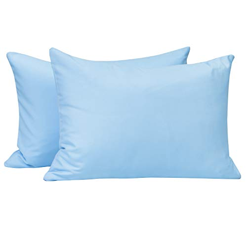 NTBAY Toddler Pillowcases Set, 2 Pcs Zipper Closure Travel Pillow Covers, 100% Silky Soft Microfiber, 13 x 18, Sky ()