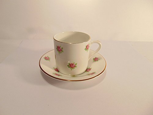 Rosina Bone China Cup (Rosina/Crownford Fine Bone China Tea Cup & Saucer Set - Pink Roses with Gold Trim)