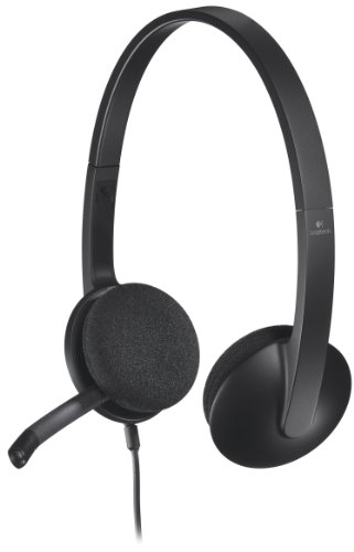 Logitech USB Headset H340, Stereo, USB Headset for Windows and Mac (Phone Headset Internet)