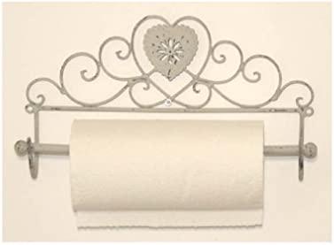 French Cream Heart Towel Rail Holder Shabby Chic Bathroom