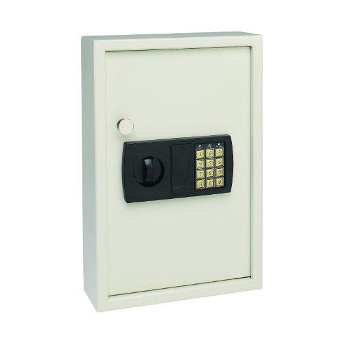 Mmf Industries Steelmaster Security Electronic Key Cabinet  11 75 X 17 34 X 4 Inches  Sand  48 Key Capacity  20101