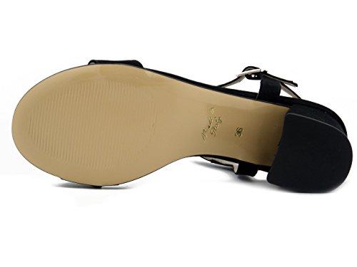 Nero 492442 Soft 5cm Ecocamoscio Sandalo In Tacco Cinzia UIqZ0q