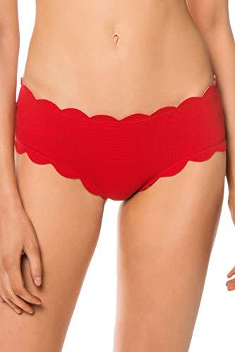 Boyshort Gingham - Marysia Women's Reversible Spring Boyshort Bikini Bottom Cherry/Cherry Gingham XS