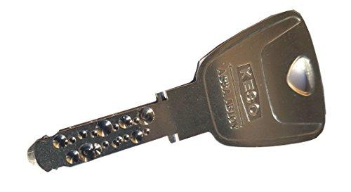Doble cilindro de cerrado Keso 8000 Omega² 81.A15 básico, exterior de 30 - interior de 30 mm, 3 x llaves largas: Amazon.es: Bricolaje y herramientas