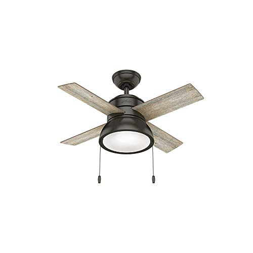 """Hunter Fan Company 59387 Hunter 36"""" Loki Noble Bronze LED Li"""