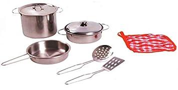 Cocina set juego de imitación Accesorios de acero sartenes ...