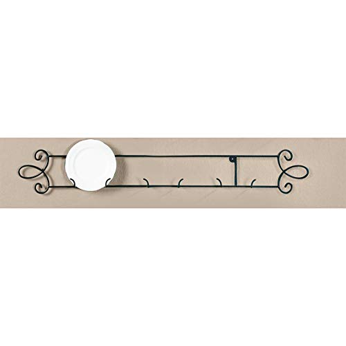 Tripar Black Horizontal Plate Rack 3-Place Rack for Collectible Plates and Plaques