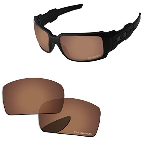 (PapaViva Lenses Replacement for Oakley Oil Drum Copper Brown - Polarized)
