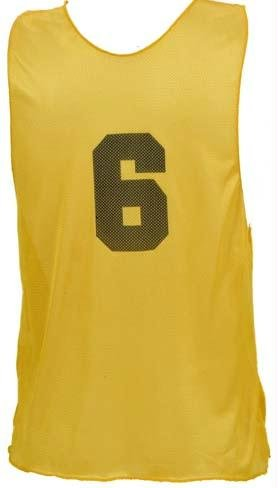- Numbered Adult Micro Mesh Vests - Gold - PC102P
