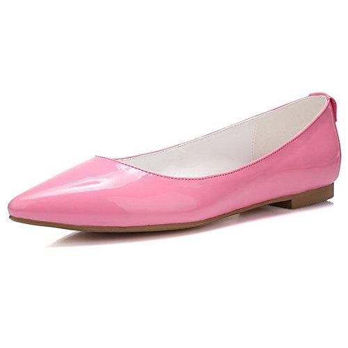 AllhqFashion Mujeres Mini Tacón Sólido Sin cordones Puntera en Cerrada De salón Rosa