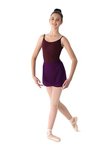 Mirella Women's Georgette Wrap Dance Skirt, BlackBerry, One ()