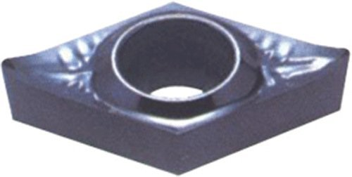 DCGX Style Pack of 10 1//64 Corner Radius Bright Finish Cobra Carbide 72042 Solid Carbide Turning Insert 3//32 Thickness Molded Chipbreaker 1//4 Insert Size Uncoated