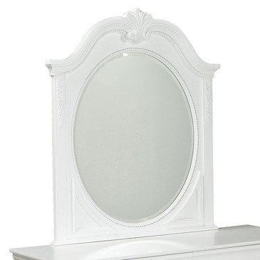 Standard Furniture Jessica Oval Kids' Mirror in White