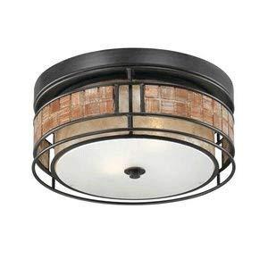 - Quoizel MCLG1612RC Laguna Mica Flush Mount Ceiling Lighting, 2-Light, 120 Watts, Renaissance Copper (6