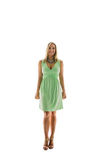 Charm Your Prince Women's Sleeveless Summer Mint Sundress M (Cotton Dress Charm)