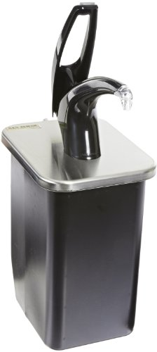 "San Jamar P4100 Stainless Steel FrontLine Universal In-Counter Condiment System, 7-1/2"" Width x 9-3/4"" Height x 9-1/2"" Depth, Black"