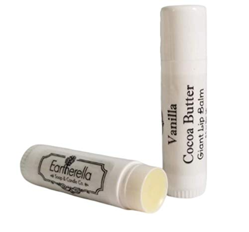 Giant Jumbo all natural LIP BALM - Vanilla Cocoa Butter scent, smells like a Mounds candy bar!