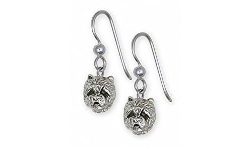 Westie Earrings Jewelry Sterling Silver Handmade West Highland White Terrier Earrings WS5H-E2