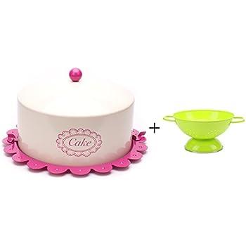 Paula Deen Pantryware Metal Cake And Pie Carrier Garden Rooster
