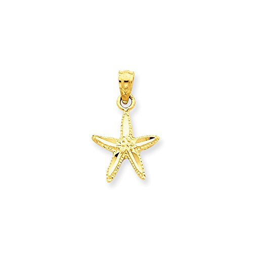 Prices for Diamond Cut Starfish Pendant - 6