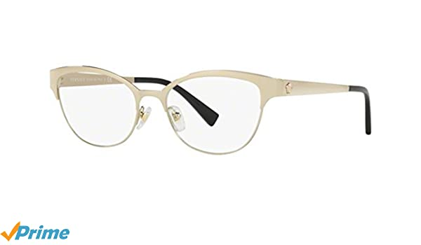 478bbcc90eb Amazon.com  Versace Women s VE1240 Eyeglasses Pale Gold 53mm  Clothing