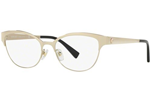 3e6b3295727 Image Unavailable. Image not available for. Color  Versace Women s VE1240  Eyeglasses Pale Gold 53mm